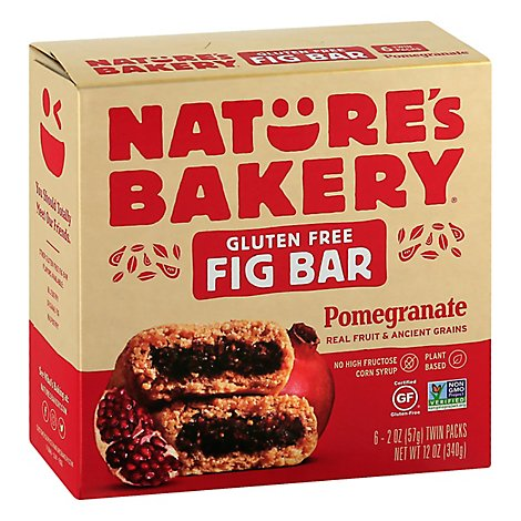 Natures Bakery Fig Bar Gluten Free Pomegranate - 6-2 Oz