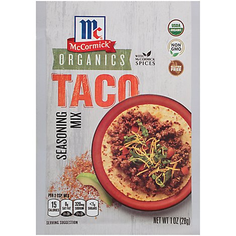 McCormick Organic Seasoning Mix  Taco - 1 Oz