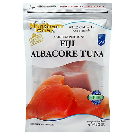 Northern Chef Skinless Portions Fiji Albacore Tuna - 10 Oz.