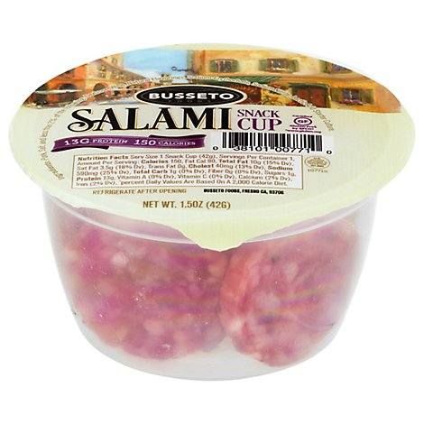 Busseto Salami Snack Cup 4 Pack - 6 Oz