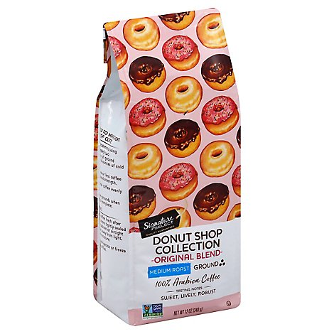 Signature SELECT Coffee Donut Shop Collection Coffee Ground Medium Roast Original Blend - 12 Oz