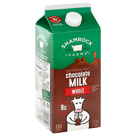 Shamrock Hgl Whole Chocolate Milk - 64 Fl. Oz.