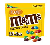 M&Ms Peanut Milk Chocolate Candies Family Size 19.2 Oz