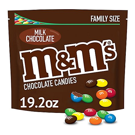 M&MS Chocolate Candies Milk Chocolate Family Size - 19.2 Oz
