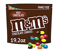 M&Ms Milk Chocolate Candy Family Size 19.2 Oz
