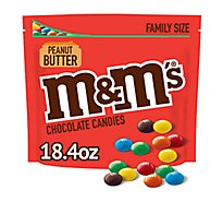 M&Ms Peanut Butter Chocolate Candies Family Size 18.4 Oz