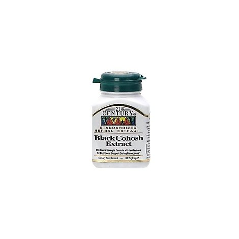 21st Cent Blk Cohosh Soy Iso - 60 Count
