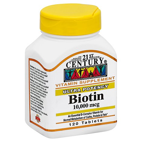 21st Cent Biotin 10000mcg - 120 Count