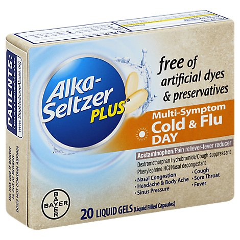Alka Seltzer Cold & Flu Day - 20 Count