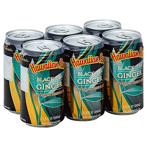Hawaiian Sun Black Tea Ginger Drink - 6-11.5 Oz