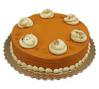 Bakery Cake 8 Inch 1 Layer Pumpkin Spice Bettercreme - Each