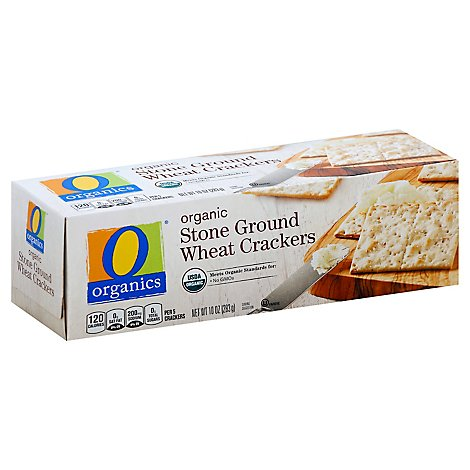 O Organics Crackers Organic Stone Ground Wheat - 10 Oz