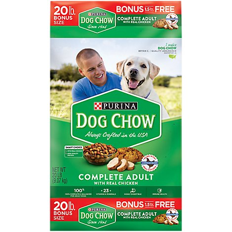 Dog Chow Dog Food Dry Complete Chicken - 20 Lb