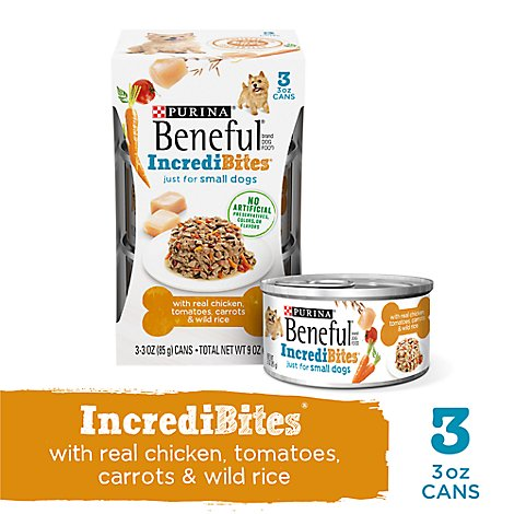 Beneful Dog Food Chopped Blends With Chicken Tomatoes Carrots & Wild Rice Can - 3-3 Oz