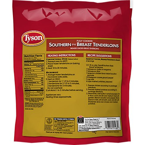 Tyson Fully Cooked Southern Style Chicken Breast Tenderloins - 25 Oz