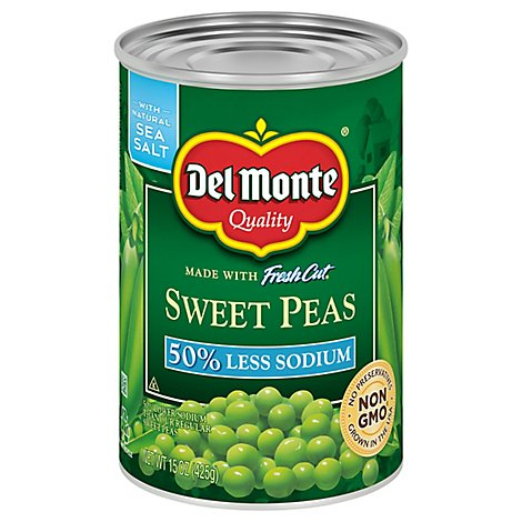 Del Monte Fresh Cut Peas Sweet Low Sodium - 15 Oz