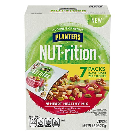 Planters NUT-rition Heart Healthy Mix - 5-1.5 Oz