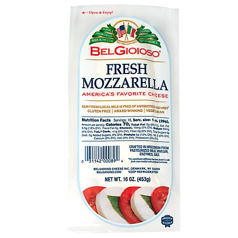Belgioioso Mozzarella Log - 16 Oz