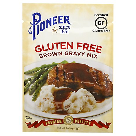 Pioneer Brand Gravy Mix Gluten Free Brown - 1.61 Oz