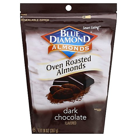 Blue Diamond Almonds Oven Roasted Dark Chocolate - 14 Oz