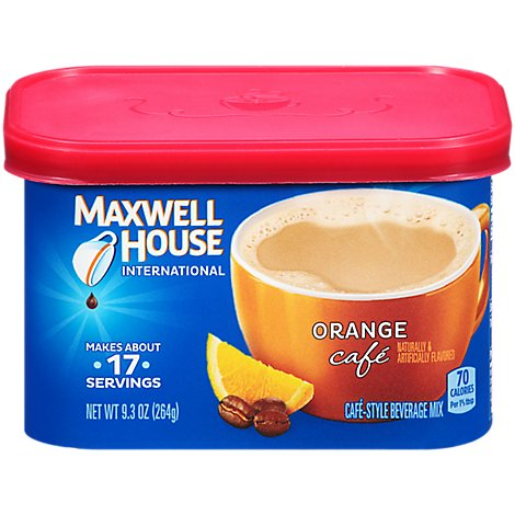 Maxwell House International Beverage Mix Cafe-Style Orange Cafe - 9.3 Oz