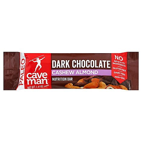 Caveman Food Chocolate Cashew Almond - 1.4 Oz