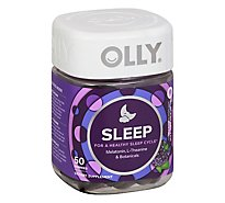 Olly Dietery Supplement Restful Sleep Blackberry Zen Gummies - 50 Count