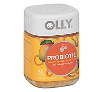 Olly Purely Probiotic Vitamins Gummies Tropical Mango - 50 Count
