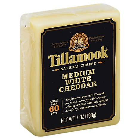 Tillamook Medium White Deli Cheddar Cheese - 7 Oz