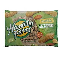 Hampton Farms Peanuts Salted Roasted Jumbo - 24 Oz