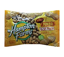Hampton Farms Peanuts Unsalted Roasted Jumbo - 24 Oz