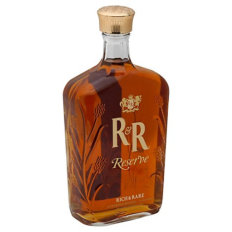 Rich & Rare Reserve Canadian Whisky A Blend 80 Proof - 750 Ml