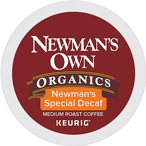 Newmans Own Organics Coffee K Cup Pods Medium Roast Newmans Special Decaf - 12-0.31 Oz