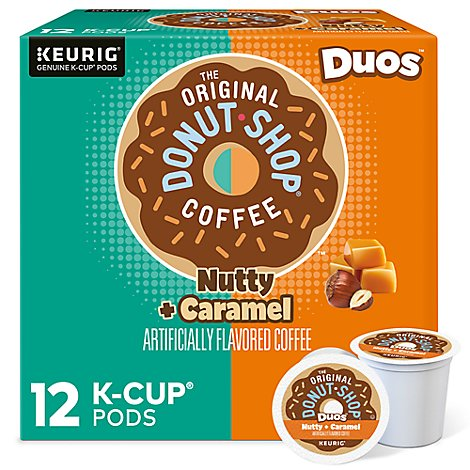 Keurig The Original Donut Shop Coffee K Cup Pods Medium Roast Nutty Caramel - 12-0.34 Oz