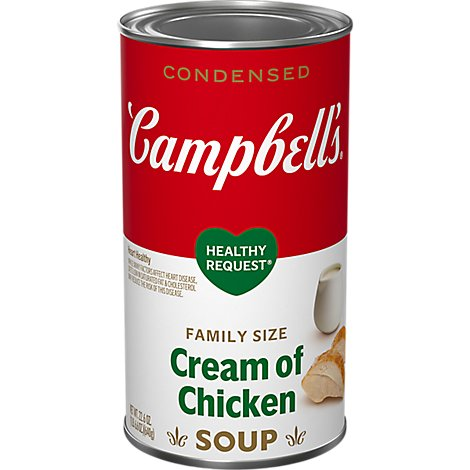 Campbells Healthy Request Soup Condensed Cream of Chicken Family Size - 22.6 Oz