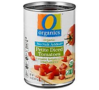 O Organics Organic Tomatoes Diced Petite In Tomato Juice No Salt Added - 14.5 Oz