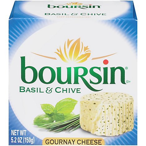 Boursin Basil & Chive Gournay Cheese - 5.2 Oz.