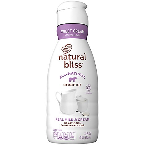 Coffeemate Natural Bliss Coffee Creamer Sweet Cream Flavor - 32 Fl. Oz.