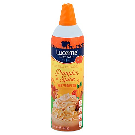 Lucerne Whipped Topping Pumpkin - 13 Oz
