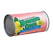 Hawaiis Own Juice Frozen Concentrate Pink Lemonade - 12 Fl. Oz.
