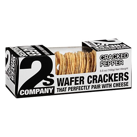 2s Company Cracker Wafer Cracked Pepper - 3.5 Oz