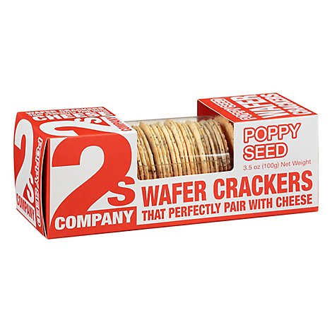 2s Company Cracker Wafer Poppy Seed - 3.5 Oz