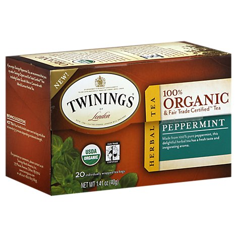 Twinings of London Herbal Tea Organic Peppermint - 20 Count
