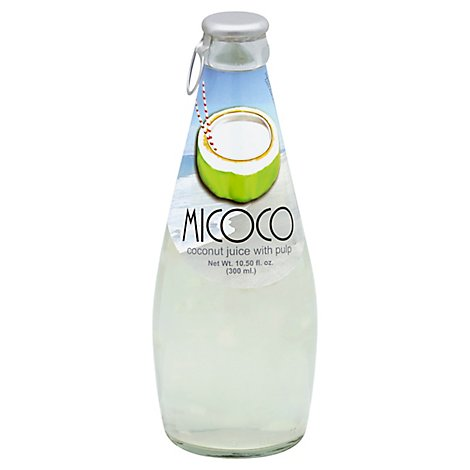 Micoco Juice Coconut With Pulp Bottle - 10.5 Fl. Oz.