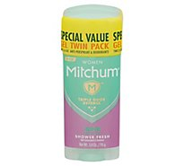 Mitchum Anti-Perspirant & Deodorant For Women Gel Shower Fresh Twin Pack - 2-3.4 Oz