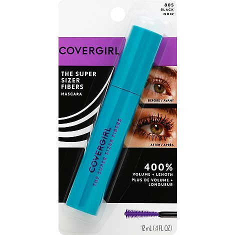 COVERGIRL Super Sizer Fiber Mascara Black 805 - 0.4 Oz