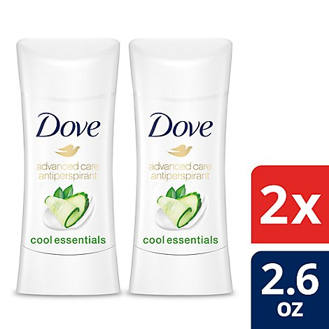 Dove Advanced Care Antiperspirant Deodorant Stick 48h Cool Essentials - 2-2.6 Oz
