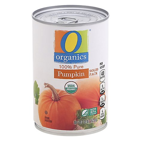 O Organics Organic Canned Vegetable Pumpkin - 15 Oz
