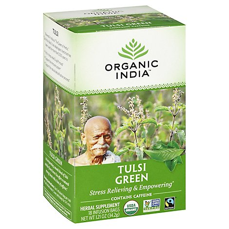 Organic India Tulsi Green Tea Organic 18 Count - 1.21 Oz