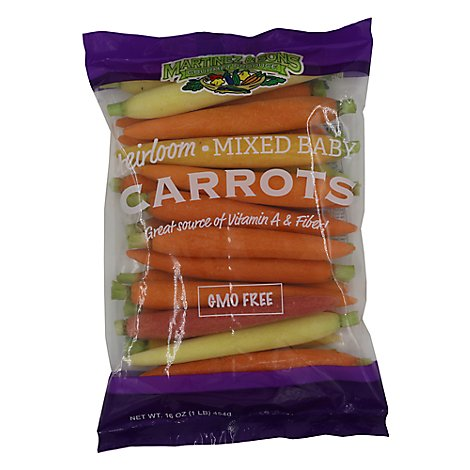 Carrots Orange Baby Peeled Heirloom - 16 Oz